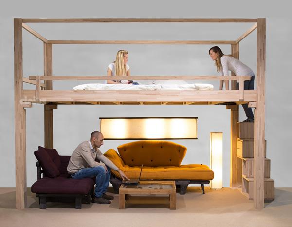 lit mezzanine sur mesure lit nido lit superpos en htre massif lamell ralisable galement sur. Black Bedroom Furniture Sets. Home Design Ideas
