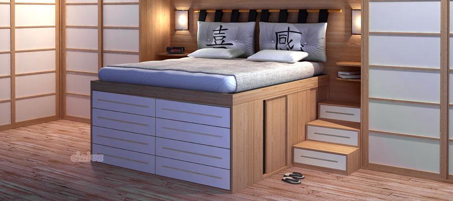 Cinius ameublements en style japonais pour un style for Armoire penderie style japonais