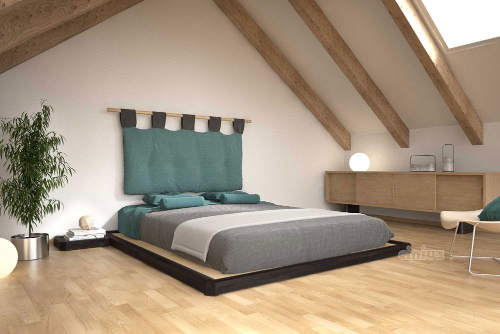 Letto dojo di cinius letto basso in stile giapponese con tatami - Camere da letto stile giapponese ...