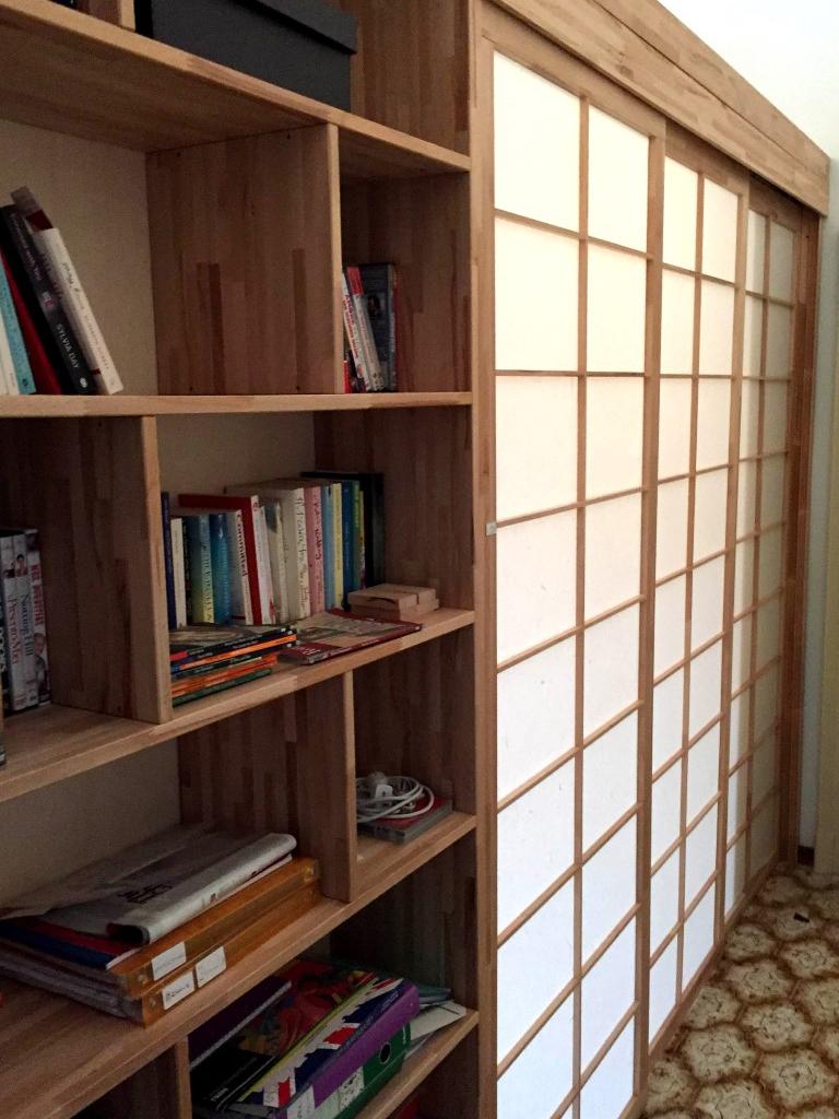 Cinius foto progetti realizzati di mobili su misura letti a soppalco cabine armadio - Parete mobile scorrevole ...