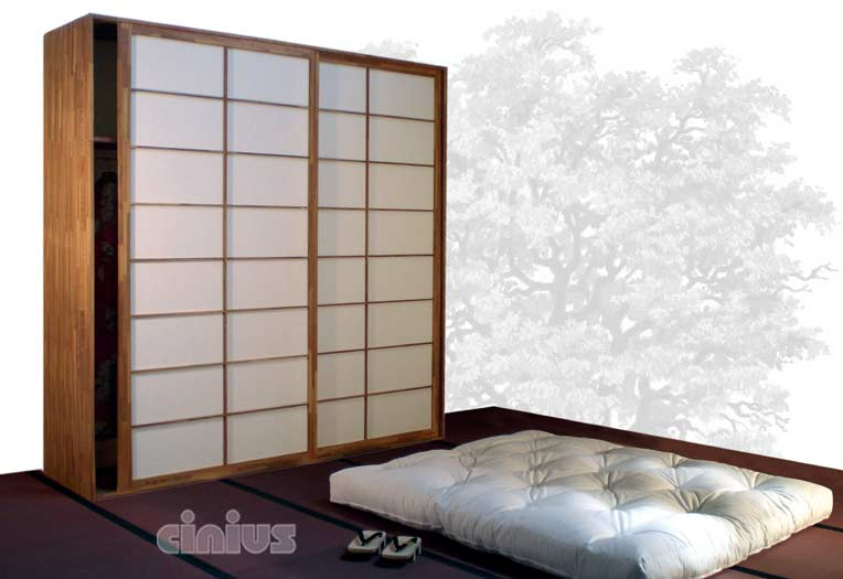cinius armoires portes coulissantes japonaises shoji. Black Bedroom Furniture Sets. Home Design Ideas
