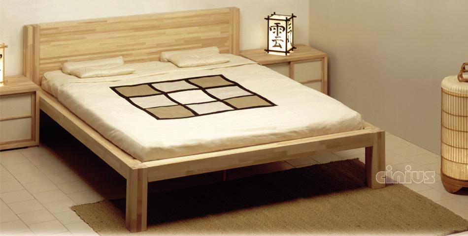 Letto zen di cinius linea essenziale e minimal in legno massello - Letto matrimoniale stile giapponese ...